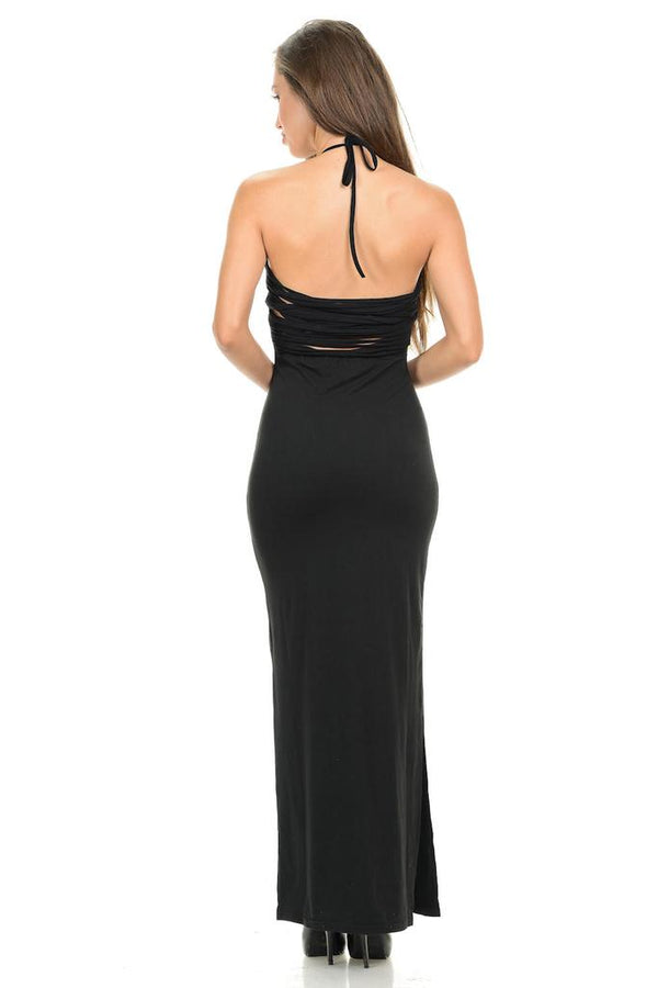 Halter Maxi Dress - DRESSES - NIGEL MARK