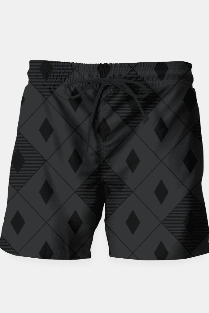 Harlequins - Midnight Black Swim Shorts - MEN SHORTS - NIGEL MARK