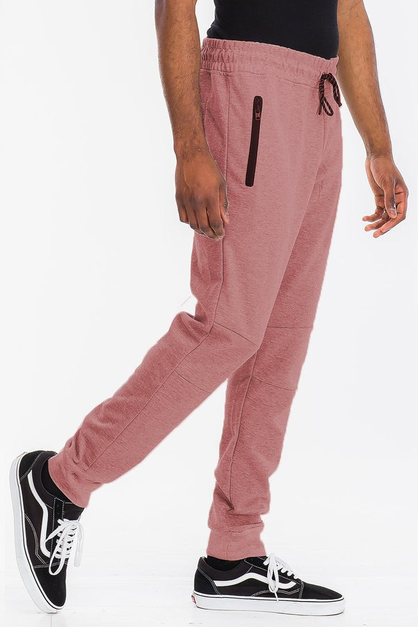 Heathered Cotton Sweats - Pink - Men's Clothing - NIGEL MARK