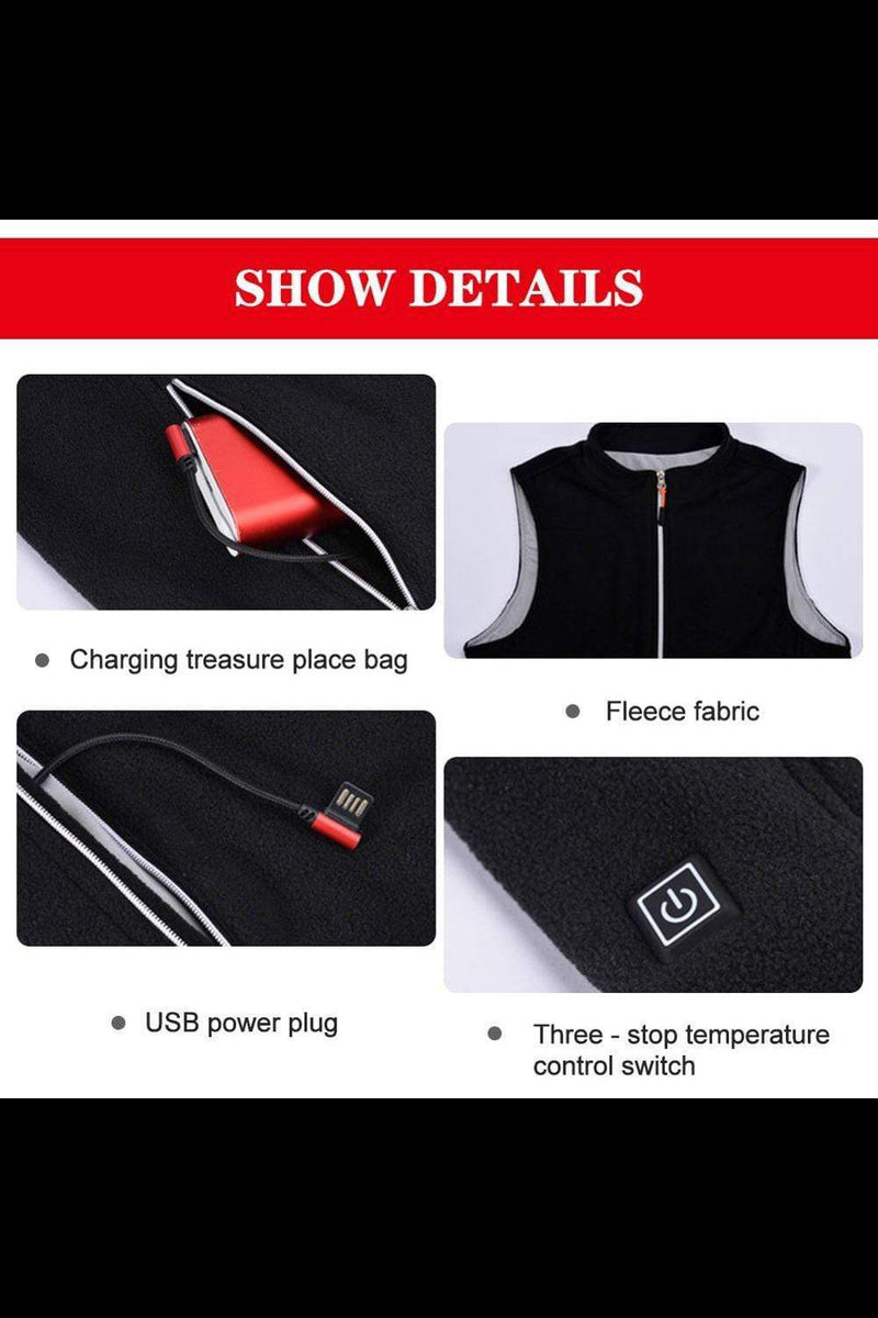 Heating Vest Washable USB Charging Three Speed - MEN JACKETS & COATS - NIGEL MARK
