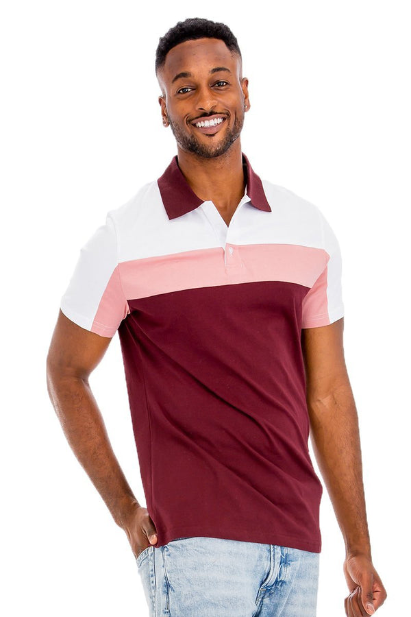 Heritage Stripe Polo Shirt - MEN TOPS - NIGEL MARK