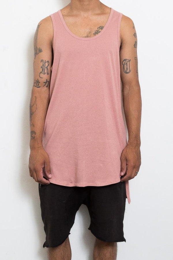 Hi Low Tank - Rose - Tank Tops - NIGEL MARK