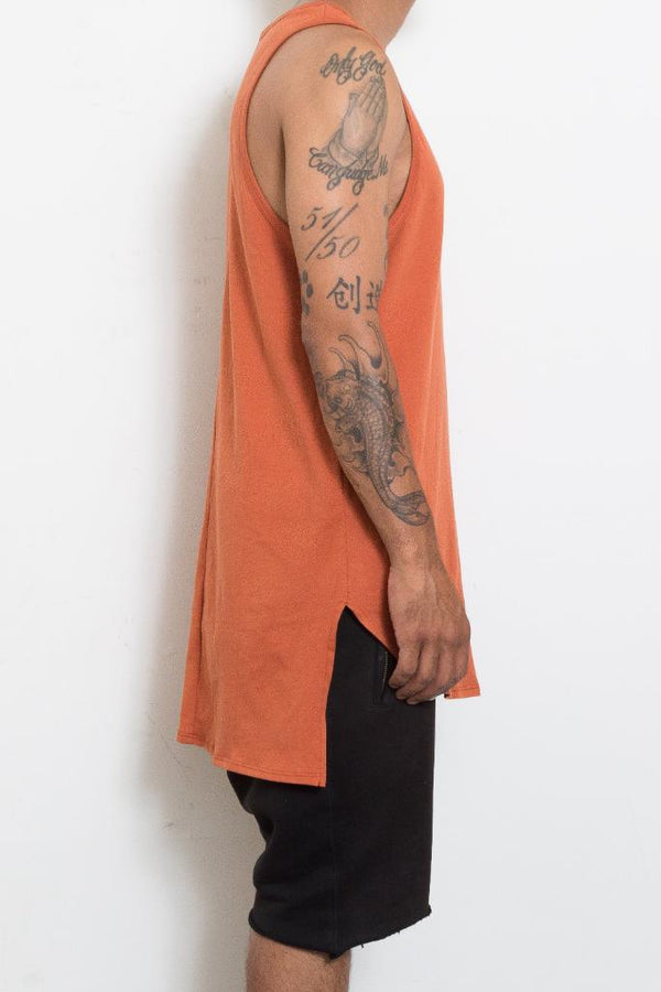 HI Low Tank - Rust - Tank Tops - NIGEL MARK