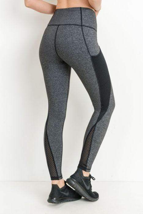 Highwaist Helix Trellis Mesh Leggings - Activewear - NIGEL MARK