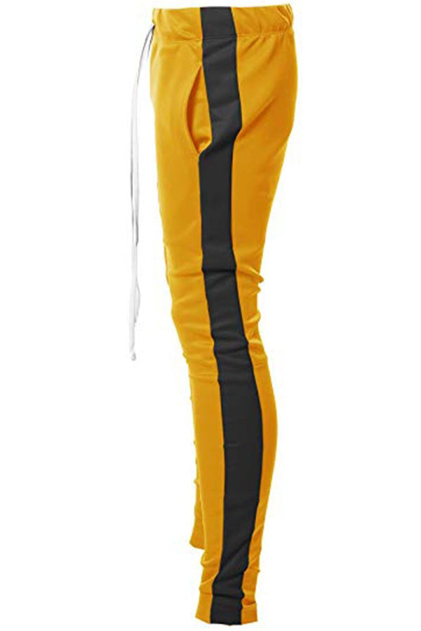 Holiday Track Pants - Yellow/Black - Men's Clothing - NIGEL MARK