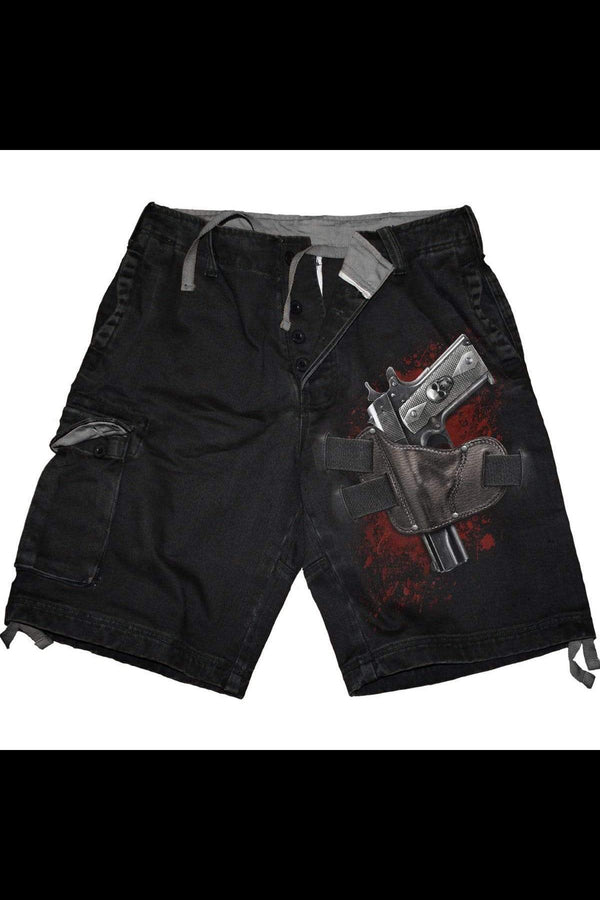HOLSTER - Vintage Cargo Shorts Black - MEN SHORTS - NIGEL MARK