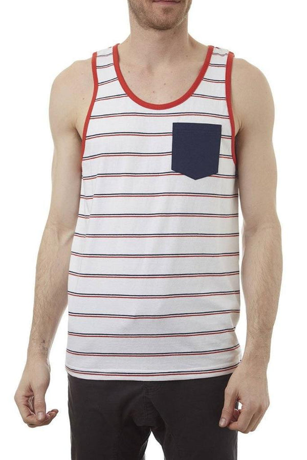 Horizontal Striped Tank Top - MEN TOPS - NIGEL MARK