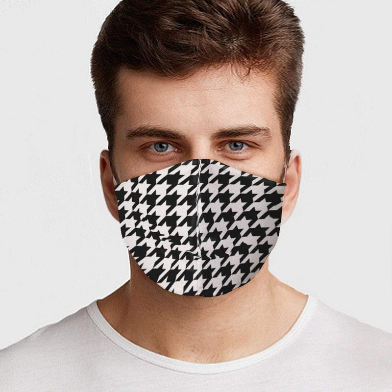 Houndstooth Face Cover - BEAUTY & WELLNESS - NIGEL MARK