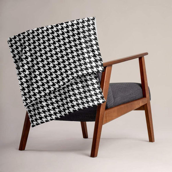 Houndstooth Throw Blanket - LIVINGROOM - NIGEL MARK