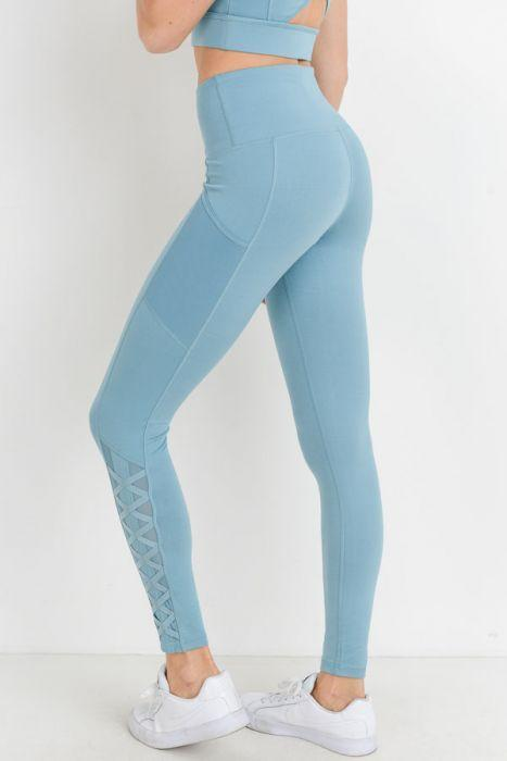 Hybrid Mesh Lattice Leggings - BOTTOMS - NIGEL MARK