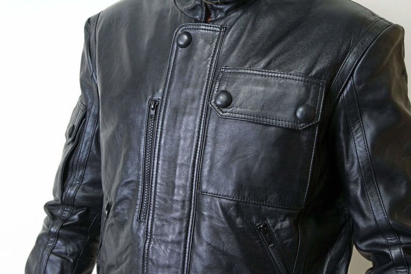 Jackherald Men Black Beast Leather Jacket - MEN JACKETS & COATS - NIGEL MARK