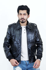 Jackherald Men Hero Premium Leather Jacket - MEN JACKETS & COATS - NIGEL MARK