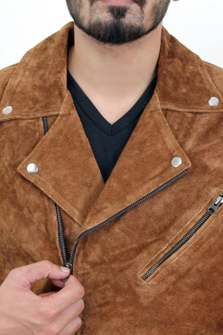 Jackherald Men Max Suede Leather Jacket - MEN JACKETS & COATS - NIGEL MARK