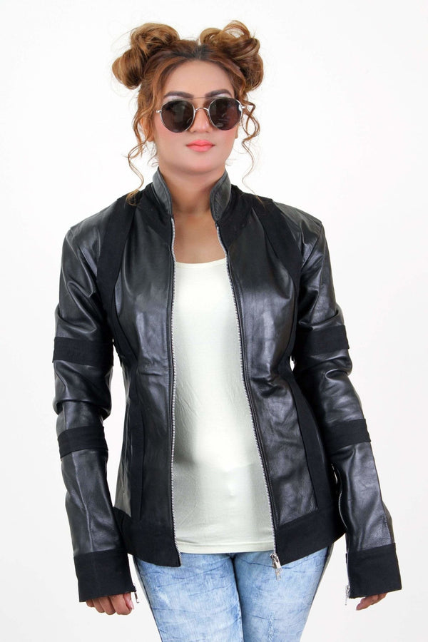 Jackherald Women Black Doll Premium Leather Jacket - JACKETS - NIGEL MARK