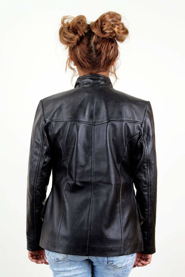 Jackherald Women Black Sky Leather Jacket - JACKETS - NIGEL MARK
