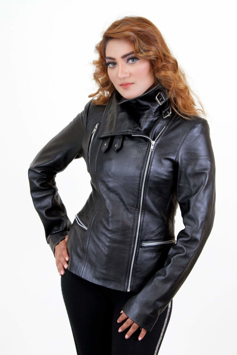 Jackherald women black water premium leather - JACKETS - NIGEL MARK