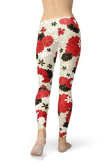 Japanese Cherry Blossom Leggings - BOTTOMS - NIGEL MARK