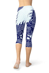 Japanese Dragon Capri Leggings - BOTTOMS - NIGEL MARK