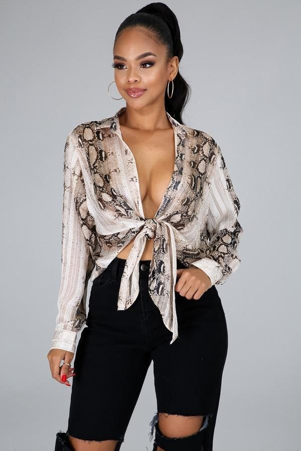 Jolanda Light Printed Top - WOMEN TOPS - NIGEL MARK
