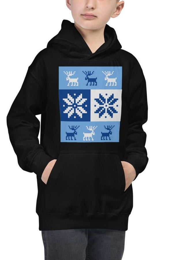 boys blue and white design hoodie