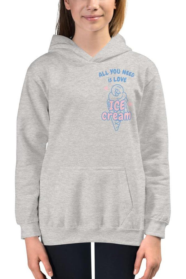 girl's pink ice cream cone hoodie