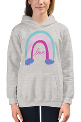 Kids Pink Rainbow Hoodie - NM BRANDED - NIGEL MARK