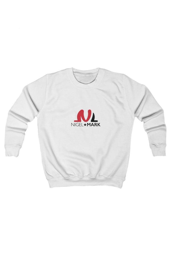 casual white kids crewneck pullover