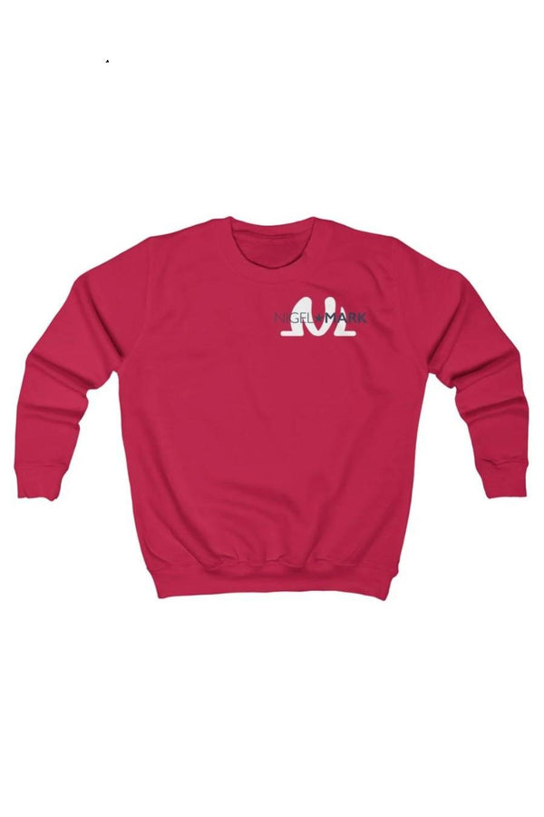 red and white kids sweatshirt