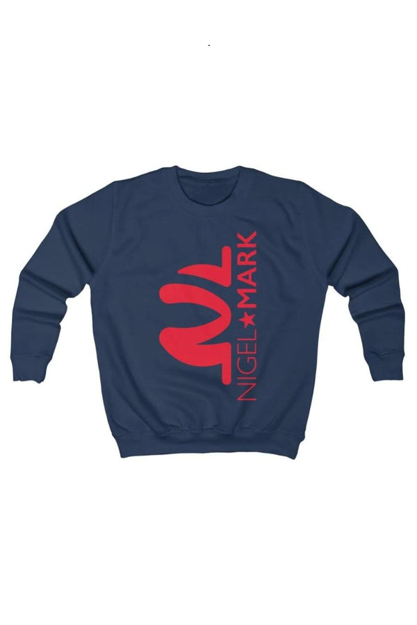 kids navy blue casual sweatshirt