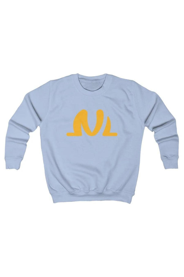 baby blue and yellow kids sweatshirt