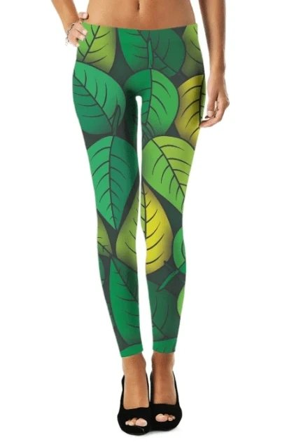 Leafs Legging - WOMEN BOTTOMS - NIGEL MARK