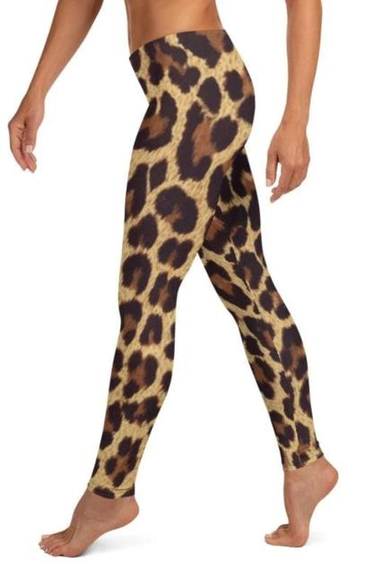 Leopard Animal Print Leggings - WOMEN BOTTOMS - NIGEL MARK