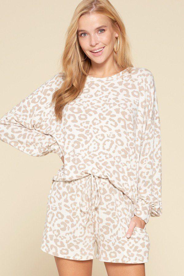 Leopard Knit Loungewear Set - MATCHING SETS - NIGEL MARK