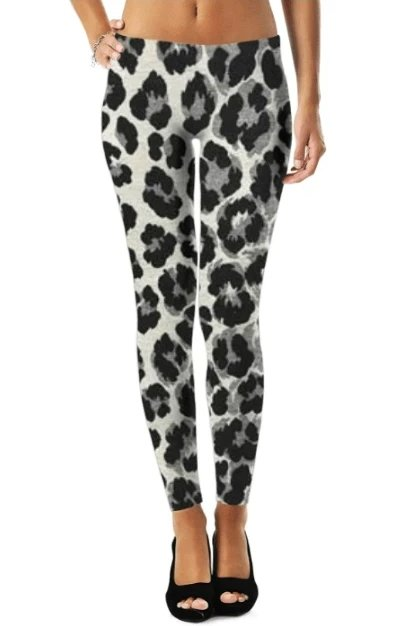 Leopard Pattern Legging - WOMEN BOTTOMS - NIGEL MARK