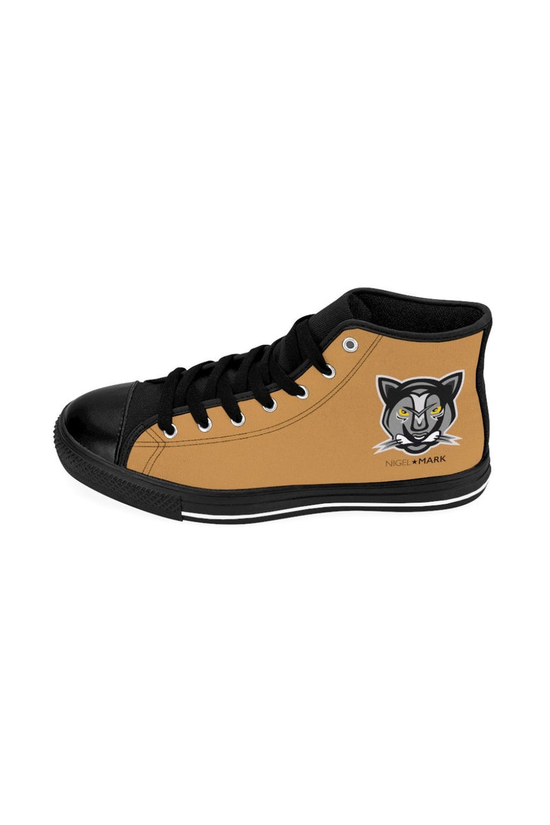 Light Brown Panther NM High-top Sneakers - NM BRANDED - NIGEL MARK