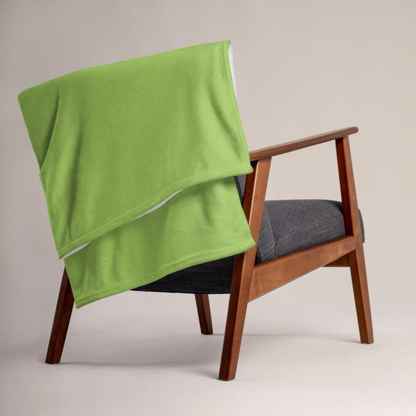 Lime Green Throw Blanket - LIVINGROOM - NIGEL MARK