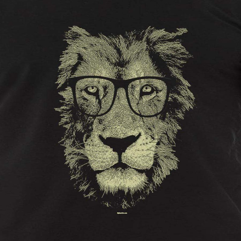 lion Wearing Glasses shirt, men's cat tshirt - MEN TOPS - NIGEL MARK