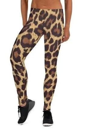 Long Leopard Print Leggings - BOTTOMS - NIGEL MARK