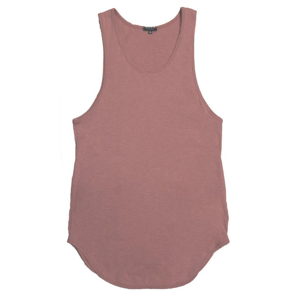 Longline Scallop Tank - Rose - T-shirts - NIGEL MARK