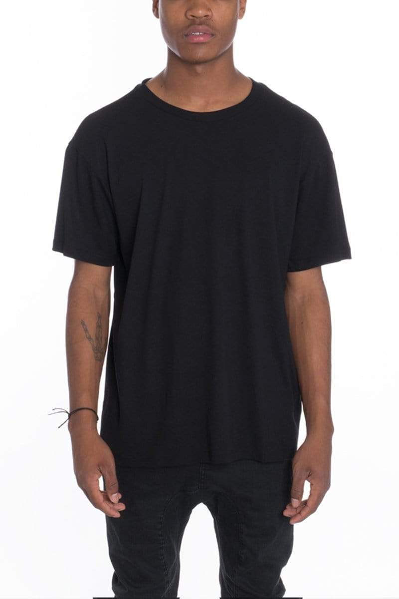 Loose Fitted T-Shirt - Black - MEN TOPS - NIGEL MARK