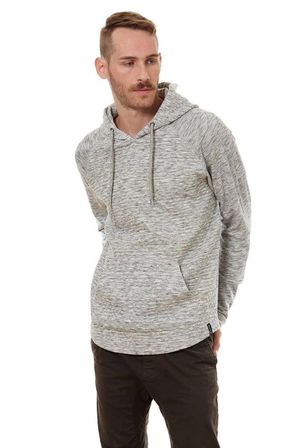 Loose Neck Curved Hem Hoodie - Men's Clothing - NIGEL MARK