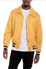 Luxe Satin Bomber - Gold - JACKETS & COATS - NIGEL MARK