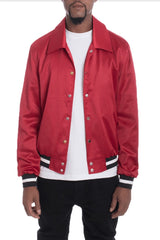 Luxe Satin Bomber - Red - JACKETS & COATS - NIGEL MARK