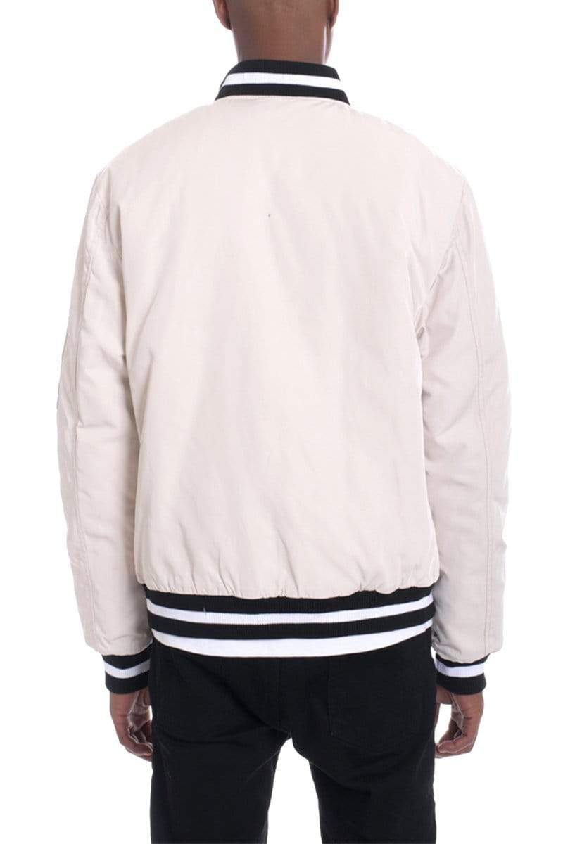 Luxe Twill Jacket - Cream - JACKETS & COATS - NIGEL MARK