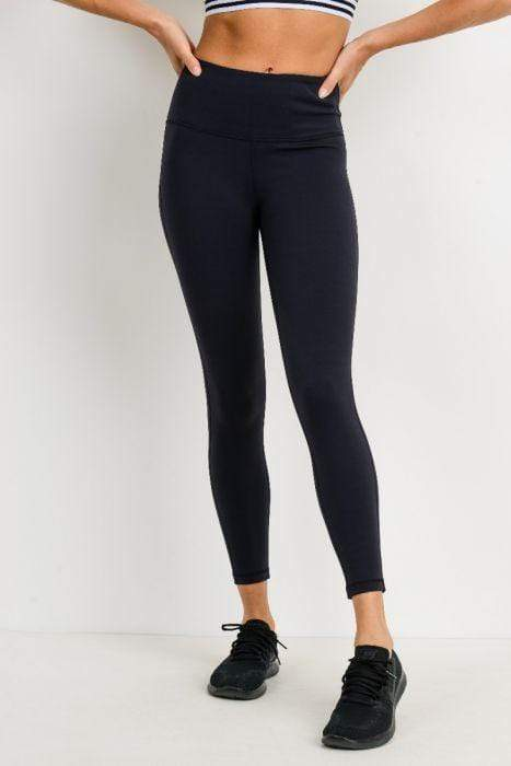 Lycra-Blend Essential Leggings - BOTTOMS - NIGEL MARK