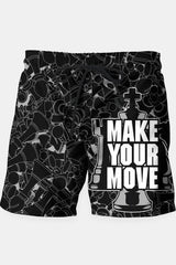 Make Your Move Chess Shorts - MEN SHORTS - NIGEL MARK