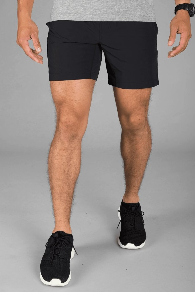 Mako Plain Shorts - Black - MEN SHORTS - NIGEL MARK