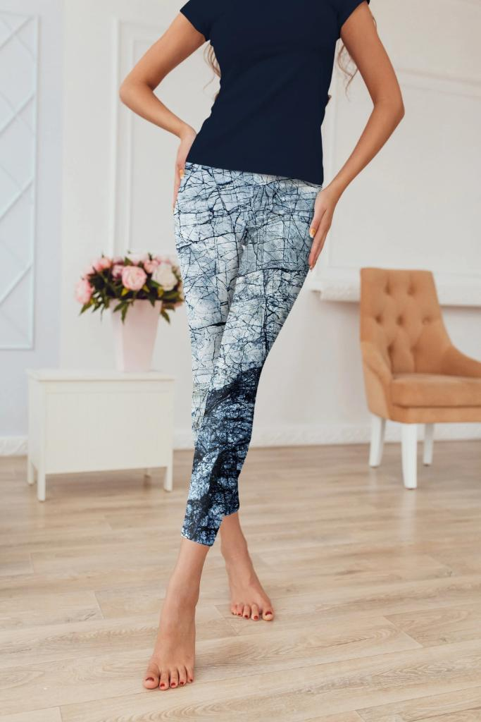 Marble Abstract Leggings - BOTTOMS - NIGEL MARK