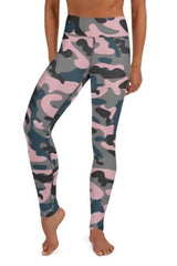 Mauve Camo Leggings - WOMEN BOTTOMS - NIGEL MARK