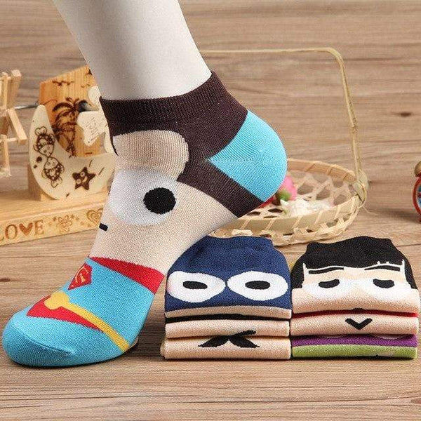 Men Socks Cotton Superman Spiderman Captain - MEN ACCESSORIES - NIGEL MARK
